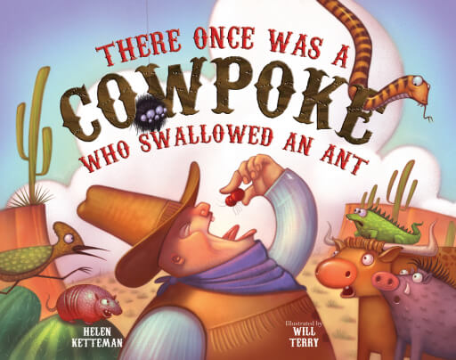 Image result for there once was a cowpoke who swallowed an ant